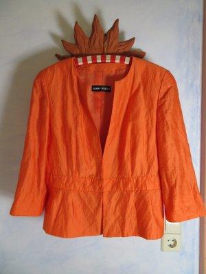 Gerry Weber Orange Sommer Jacke 40 L Kurzblazer Häkchenverschluß