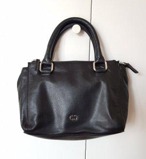 Gerry Weber Piacenza - schwarze Leder Umhänge-Handtasche