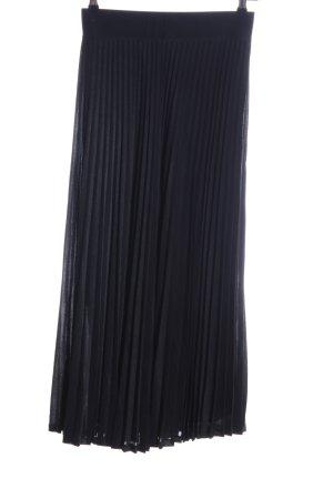 Gerry Weber Geplooide rok zwart casual uitstraling