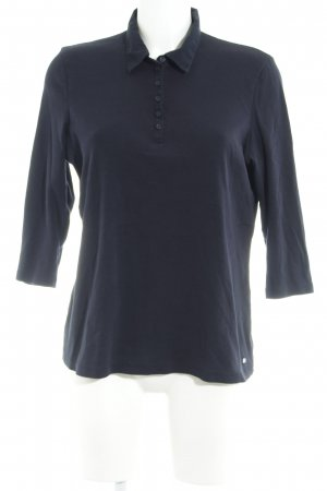 Gerry Weber Polo shirt donkerblauw casual uitstraling