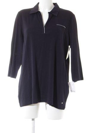 Gerry Weber Polo-Shirt dunkelblau-silberfarben Casual-Look