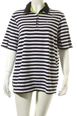 Gerry Weber Polo-Shirt Streifenmuster Glitzersteinverzierung