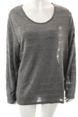 Gerry Weber Pullover grau-silberfarben Streifenmuster Casual-Look