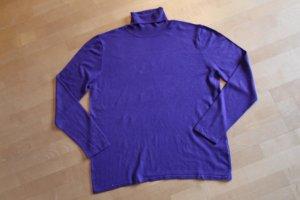 Gerry Weber Maglione dolcevita blu-viola Tessuto misto