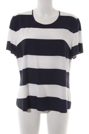 Gerry Weber Maglietta a righe bianco-blu scuro motivo a righe stile casual