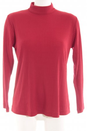 Gerry Weber Colshirt donkerrood casual uitstraling