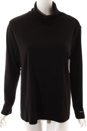 Gerry Weber Rollkragenshirt schwarz schlichter Stil
