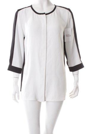 Gerry Weber Schlupf-Bluse schwarz-weiß Colourblocking