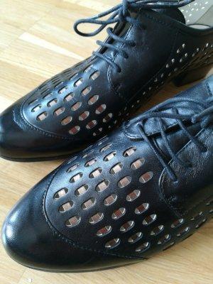 Gerry Weber Zapatos estilo Oxford negro-color rosa dorado