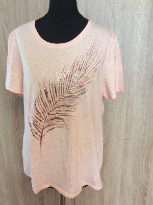 Gerry Weber Shirt Gr 40 rosa mit Palmblattprint