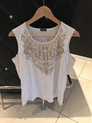Gerry Weber Camiseta estampada blanco-camel