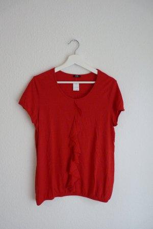 Gerry Weber Shirt kurzarm Oberteil L 40 42 *NEU* rot Blogger Fashion Style