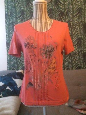 Gerry Weber Shirt rosa hellrot Muster 38 M