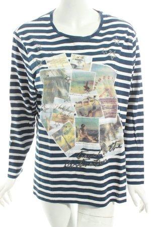 Gerry Weber Shirt weiß-dunkelblau Streifenmuster Casual-Look