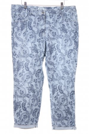 Gerry Weber Skinny Jeans wollweiß-dunkelblau abstraktes Muster Casual-Look