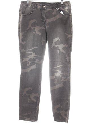 Gerry Weber Slim Jeans grüngrau-graubraun Camouflagemuster Casual-Look
