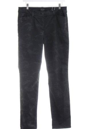 Gerry Weber Slim Jeans schwarz-dunkelgrau Camouflagemuster Casual-Look