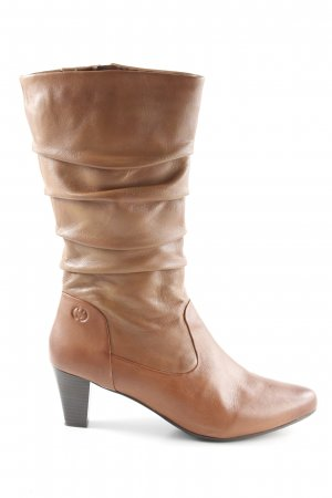 Gerry Weber Slouch Booties cognac-coloured elegant