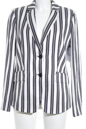 Gerry Weber Blazer de esmoquin blanco puro-negro estampado a rayas