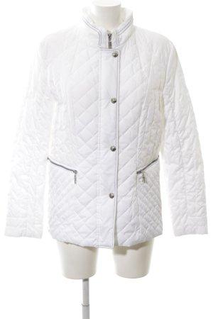 Gerry Weber Veste matelassée blanc motif de courtepointe style décontracté
