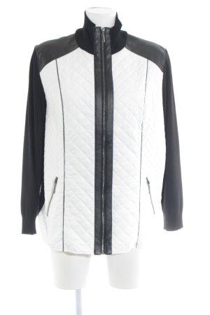Gerry Weber Chaqueta acolchada negro-blanco look casual