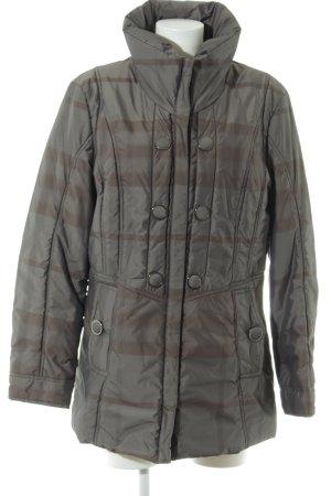Gerry Weber Manteau matelassé gris clair-brun motif à carreaux