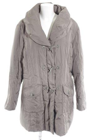 Gerry Weber Gewatteerde jas grijs-bruin casual uitstraling