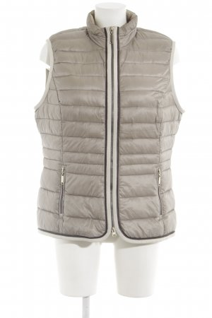 Gerry Weber Quilted Gilet beige quilting pattern casual look