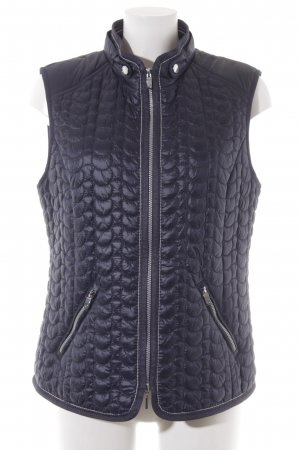 Gerry Weber Quilted Gilet dark blue quilting pattern casual look