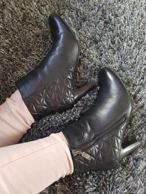 Gerry Weber Stiefeletten Echtleder 36 37 schwarz Görtz Chelsea Ankle Boots Stiefel Pumps High Heels NP 129€