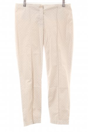 Gerry Weber Stoffhose beige-wollweiß abstraktes Muster Casual-Look