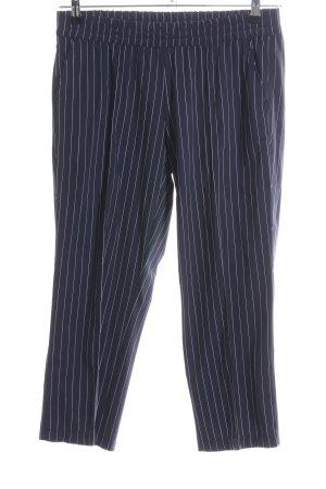 Gerry Weber Stoffhose dunkelblau-wollweiß Streifenmuster Elegant