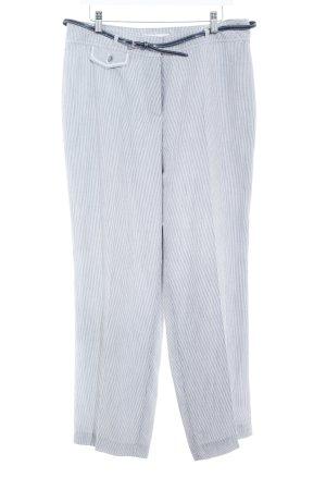Gerry Weber Stoffhose hellgrau-weiß Streifenmuster Elegant