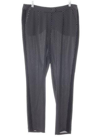Gerry Weber Pantalone jersey nero-bianco motivo a pallini stile casual