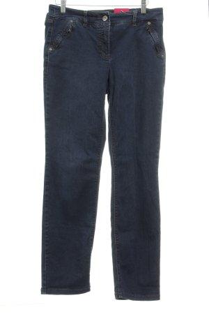 Gerry Weber Straight-Leg Jeans dunkelblau Washed-Optik