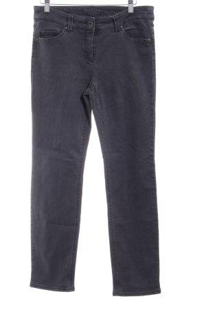 Gerry Weber Jeans a gamba dritta grigio scuro stile casual
