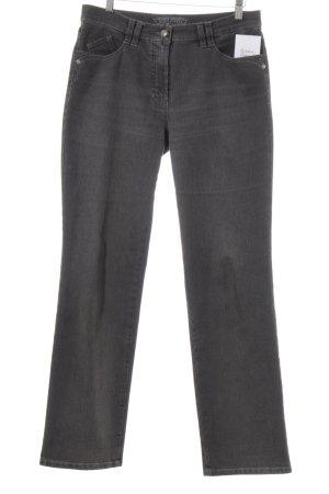 Gerry Weber Straight-Leg Jeans dunkelgrau schlichter Stil