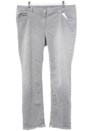 """Gerry Weber Jeans met rechte pijpen """"Irina"""" lichtgrijs"""