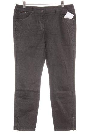 Gerry Weber Jeans a gamba dritta nero-argento con glitter