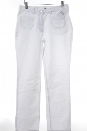 Gerry Weber Jeans a gamba dritta bianco stile casual
