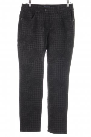 Gerry Weber Stretchhose anthrazit-schwarz florales Muster Casual-Look
