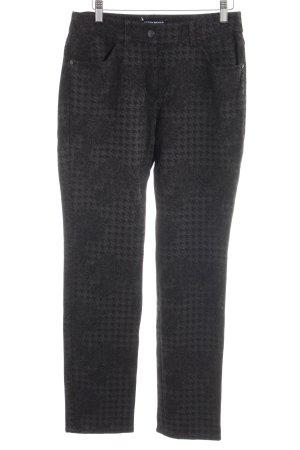 Gerry Weber Pantalone elasticizzato antracite-nero motivo floreale stile casual