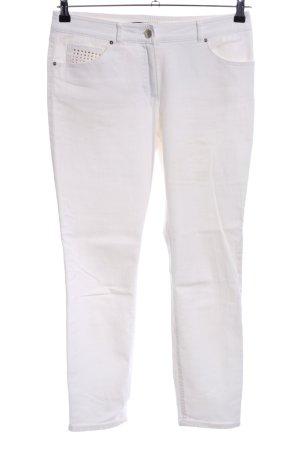 Gerry Weber Stretch broek wit casual uitstraling