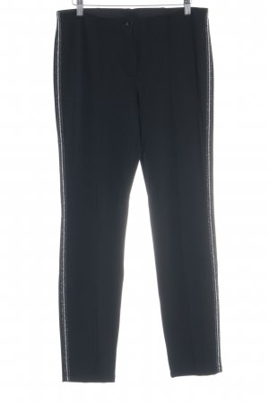 Gerry Weber Pantalón elástico negro-color plata estilo deportivo