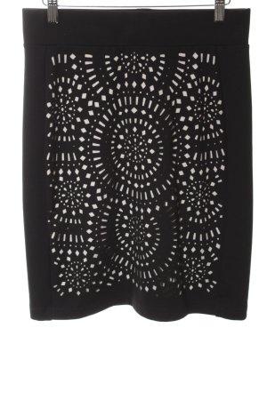 Gerry Weber Stretchrock schwarz-weiß grafisches Muster Elegant