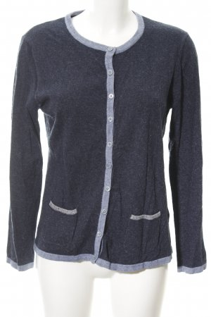 Gerry Weber Strick Cardigan dunkelblau-himmelblau Colourblocking
