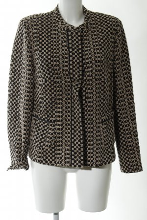 Gerry Weber Knitted Blazer black-gold-colored allover print casual look