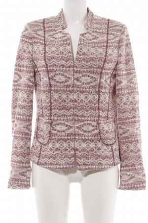 Gerry Weber Knitted Blazer red-natural white graphic pattern casual look