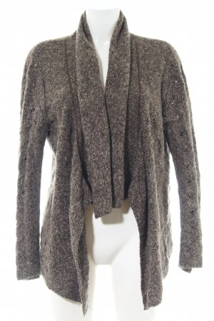 Gerry Weber Knitted Bolero brown flecked casual look