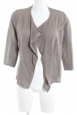 Gerry Weber Strickjacke beige Streifenmuster Casual-Look